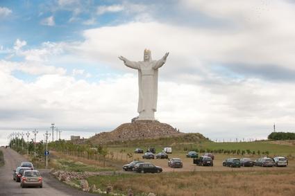 Jesus Christ statue in Swiebodzin