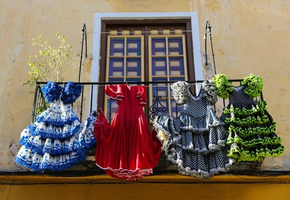 Flamenco dresses in Malaga, Spain