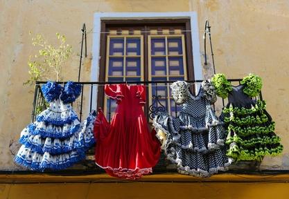 Flamenco dresses in Malaga, Spain