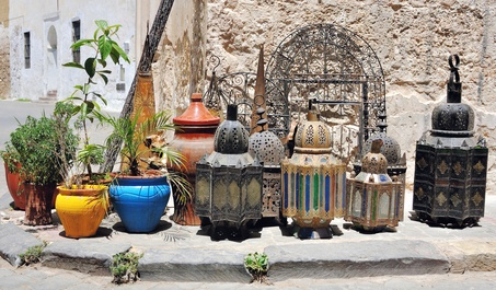 Traditional Moroccan lanterns