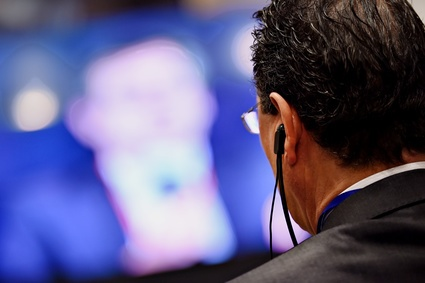 Conference headphones translation